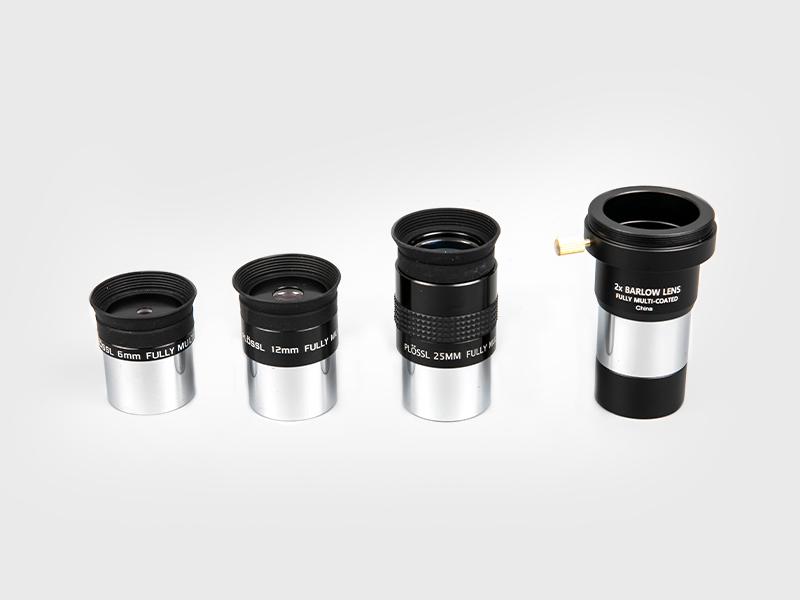 Super Plossl Ocular de 6 mm-12 mm-25 mm + 2X barlow