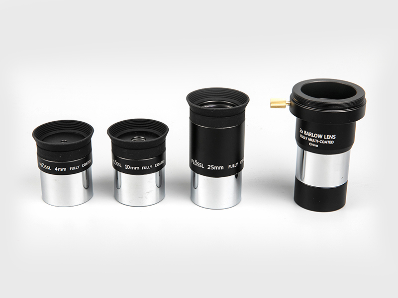 Plossl4mm-10mm-25mm + 2X Barlow Eyepiece