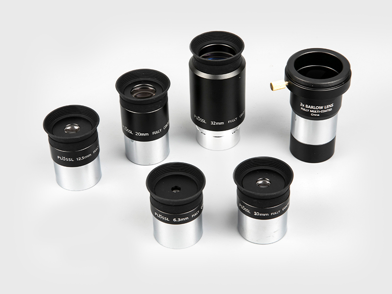 Plossl6.3mm-10mm-12.5mm-20mm-32mm + 2X ocular barlow